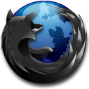 Black, Firefox Icon