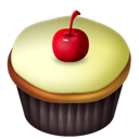 Cherry, Cupcakes, Vanilla Icon