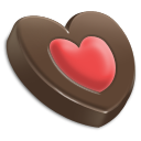 Chocolate, Heart Icon