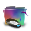 Folder, Music, Rainbow Icon