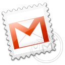 Gmail, Grey, Stamp Icon