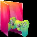 Aurora, Folders, Games, Icontexto, Saved Icon