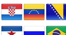 Country Flags Set 4 Icons
