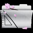 Folder, Illustrator, White Icon