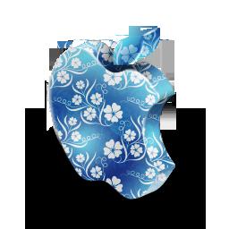 Blue, Flowers, Mac Icon