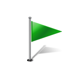 Flag1rightgreen Icon