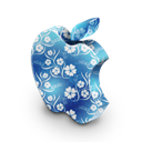Blue, Flowers, Mac Icon