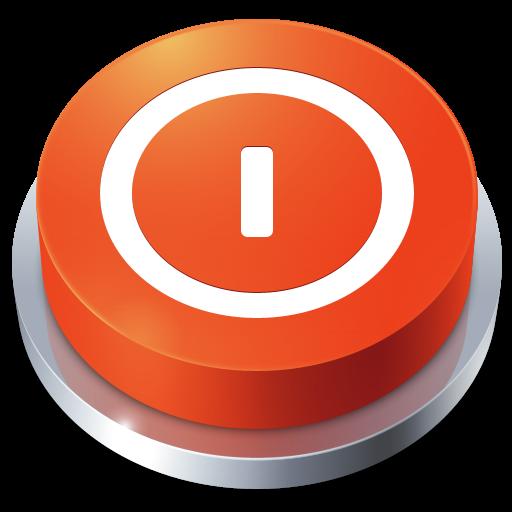 Button, Shutdown Icon