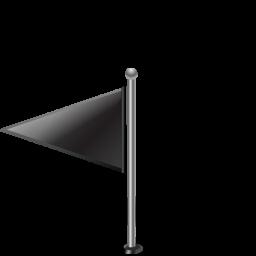 Flag1leftblack Icon