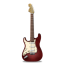 Guitar, Red, Stratocaster Icon