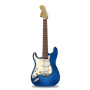 Blue, Guitar, Stratocaster Icon
