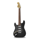 Black, Guitar, Stratocaster Icon
