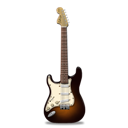 Guitar, Orange, Stratocaster Icon