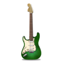 Green, Guitar, Stratocaster Icon