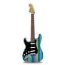 Guitar, Stratocaster, Stripes Icon