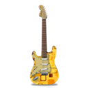 Guitar, Retropeach, Stratocaster Icon