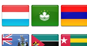 Country Flags Set 5 Icons