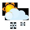 Lightcloud, Sleet, Sun Icon