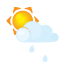 Littlecloud, Rain, Sun Icon