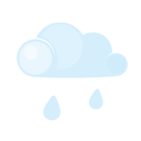 Day, Lightcloud, Rain Icon