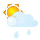 Lightcloud, Rain, Sun Icon