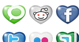 12 Sweet Social Media Icons