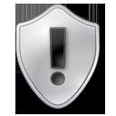 Grey, Shield, Warning Icon