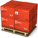 Boxes, Red Icon