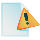 Document, Warning Icon