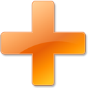 Orange, Plus Icon