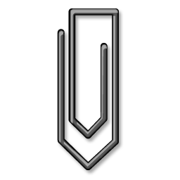 Black, Paperclip Icon