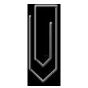 Black, Paperclip Icon