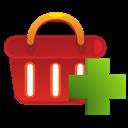 Add, Shoppingbasket Icon