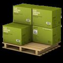 Boxes, Cargo, Green Icon