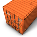 Container, Orange Icon