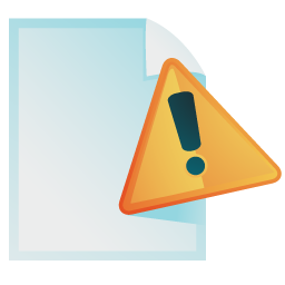 Document, Warning Icon