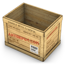 Container, Opened, Wood Icon