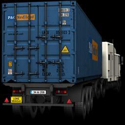 Blue, Truck Icon