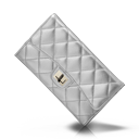 Chanel, Purse, Silver Icon