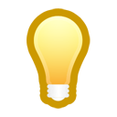 Bulb, Light, On Icon
