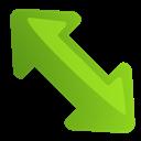 Arrow, Diagleft Icon