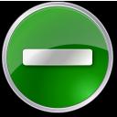 Circle, Green, Minus Icon