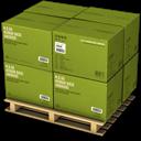 Boxes, Green Icon