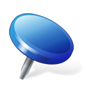 Blue, Drawingpin Icon