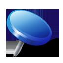 Blue, Drawingpin Icon
