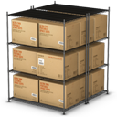 Boxes, Stacked Icon
