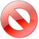 Cancel, Red Icon