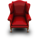 Couch, Red Icon