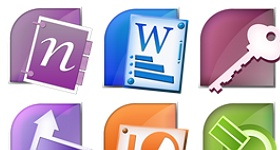 Microsoft Office Suite Icons