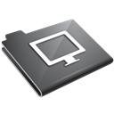 Grey, Monitor Icon